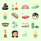 Spa icons, illustration