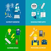 Power distribution, illustration
