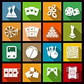 Games icons, illustration