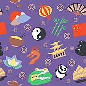 Chinese icons, illustration