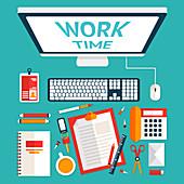 Workspace, illustration