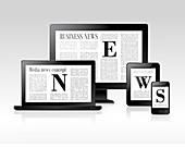Digital news, illustration