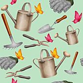 Gardening, illustration