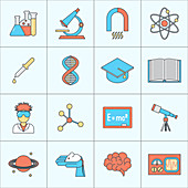 Science icons, illustration