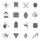 Honey icons, illustration