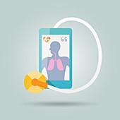 Digital healthcare, illustration