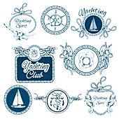 Nautical logos, illustration
