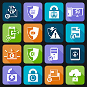 Data protection icons, illustration
