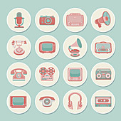 Retro gadgets, illustration