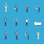 Personal hygiene icons, illustration