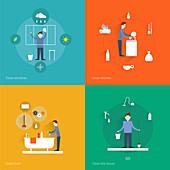 Housework, illustration
