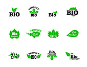 Plant-based product icons, illustration