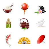 Japanese icons, illustration