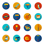 Painting and decorating icons, illustration