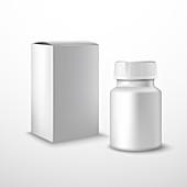 Drug packaging, illustration