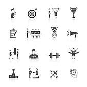 Coaching icons, illustration