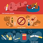 Smoking cessation, illustration