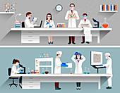 Scientific research, illustration