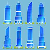 Skyscrapers, illustration