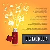 Digital media, illustration
