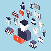 University, illustration