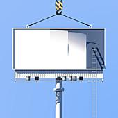 Blank billboard sign, illustration