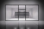 Empty storefront, illustration
