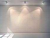 Blank brick wall, illustration