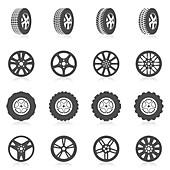 Tyre icons, illustration