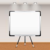 Blank whiteboard, illustration