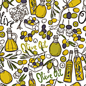 Olive oil, illustration