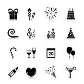 Celebration icons, illustration