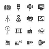 Photography icons, illustration