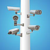 Video surveillance, illustration
