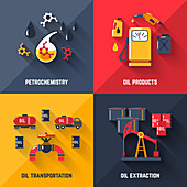 Oil industry, illustration