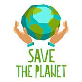 Save the planet, illustration