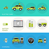 Electric cars, illustration