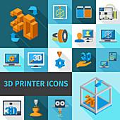 3d printing, illustration