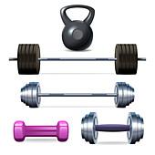 Weights, illustration