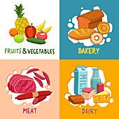 Foods, illustration