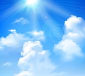 Sunny sky, illustration