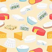 Cheeses, illustration