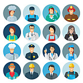 Profession avatars, illustration
