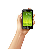 Mobile phone, illustration