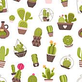 Cactus plants, illustration