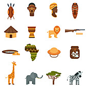 African icons, illustration