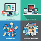Digital medicine, illustration