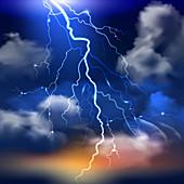 Lightning, illustration