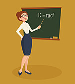 Physics teacher, illustration