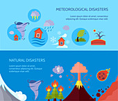 Natural disasters, illustration